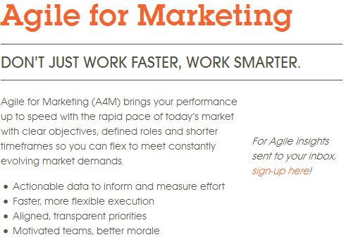 Agile Marketing, Agile for Marketing, CMG Partners